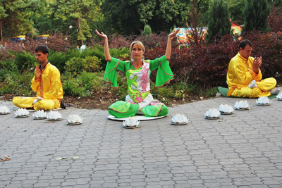 Медитація Фалунь Дафа в Маріуполі