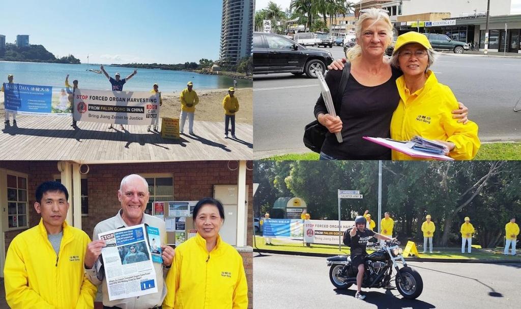 Австралійці з різних верств суспільства висловили свою підтримку зусиллям практикуючих Фалунь Дафа, спрямованим на те, щоб привернути увагу громадськості до жорстокого переслідування Фалуньгун компартією Китаю