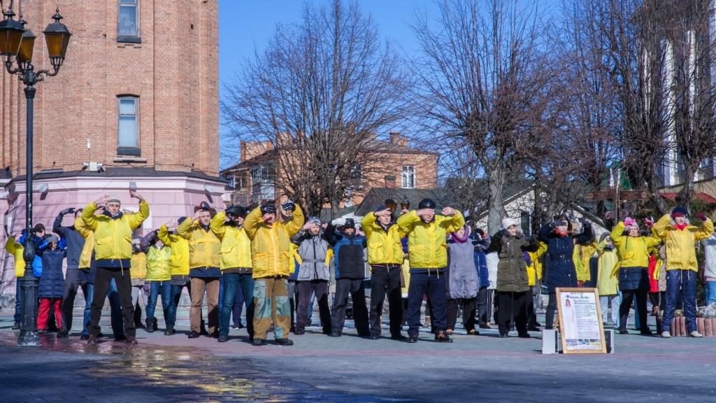 Вправи цігун Фалунь Дафа в Вінниці. Фото надано практикуючими Фалуньгун