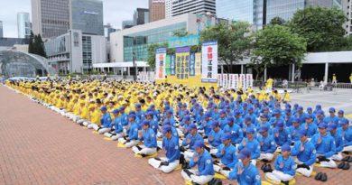Практикуючі Фалунь Дафа Гонконгу провели мітинг і парад, закликаючи припинити переслідування Фалуньгун