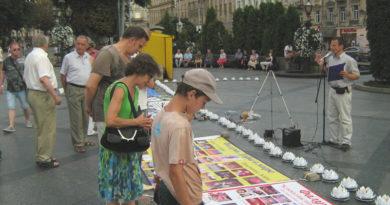 Західна Україна: збір підписів під петицією DAFOH та клопотанням щодо притягнення Цзян Цземіня до суду за скоєні вбивства послідовників Фалунь Дафа в Китаї