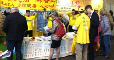 Виставка Health Expo вітає Фалунь Дафа у Франції, незважаючи на погрози китайського консульства