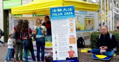 Мешканці Німеччини знайомляться з Фалуньгун
