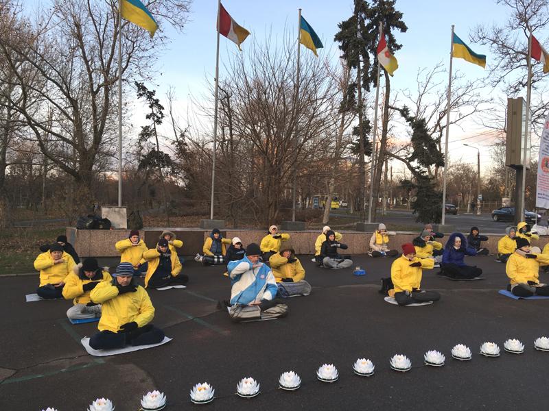 Виконання п'ятої вправи Фалуньгун: медитація