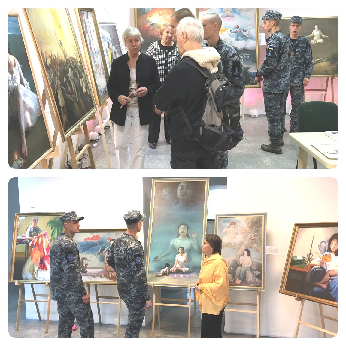 Картини відображають красу вдосконалення людини по східній практиці Фалуньгун і жорстокість репресій послідовників Фалунь Дафа у Китаї з боку комуністичної партії, через які багато художників самі пройшли