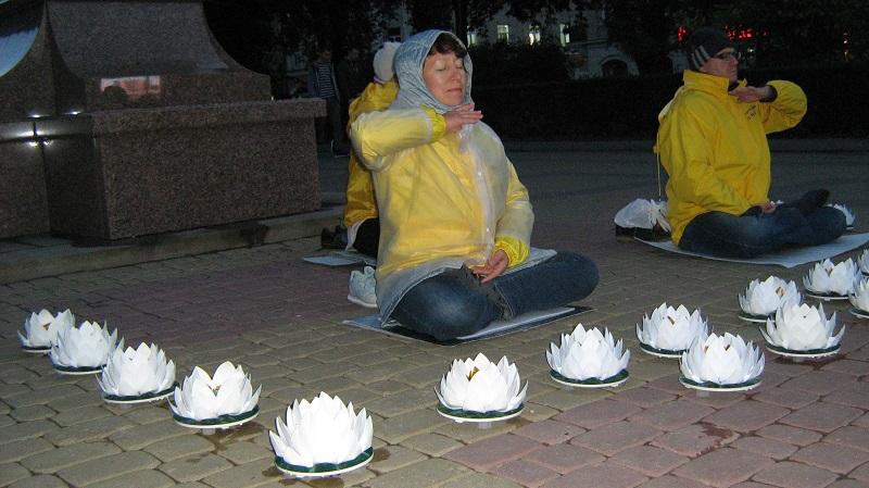 Виконання медитативного комплексу вправ Фалунь Дафа