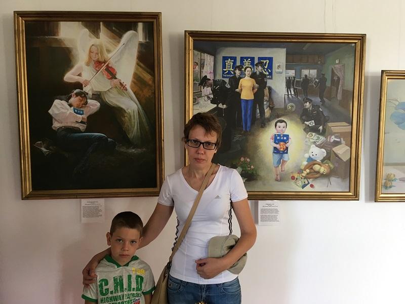 Олена з сином Іваном (Фото: fofg.in.ua)